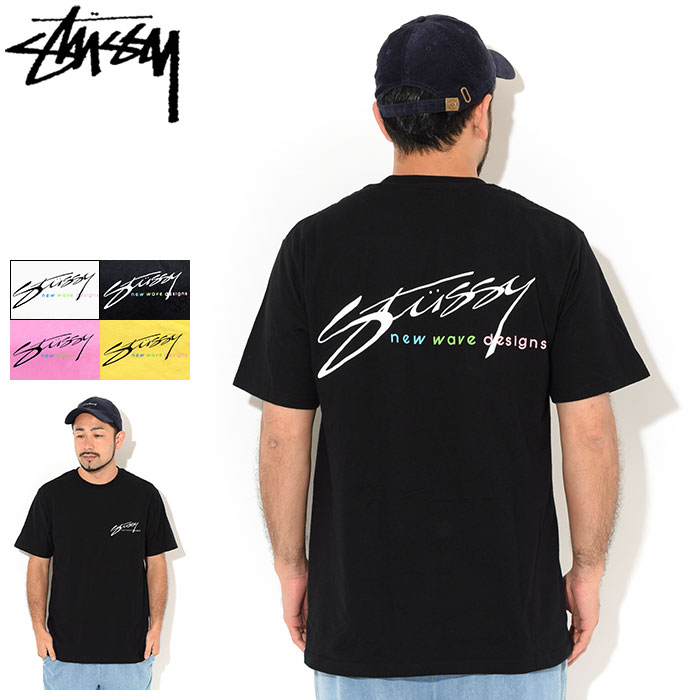 トップス, Tシャツ・カットソー  STUSSY T New Wave Designs ( stussy tee T-SHIRTS 1904544 USA )M 11 ice field icefield