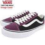 バンズ VANS スニーカー メンズ 男性用 スタイル 36 Prune/Black ビンテージ スエード ( vans VN0A3DZ3XMQ Style 36 Vintage Suede ローカット パープル 紫 SNEAKER MENS・靴 シューズ SHOES ヴァンズ )