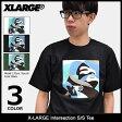 エクストララージ X-LARGE Tシャツ 半袖 メンズ インターセクション(x-large Intersection S/S Tee ティーシャツ T-SHIRTS カットソー トップス XLARGE Extra Large エックスラージ M17A1102) ice filed icefield
