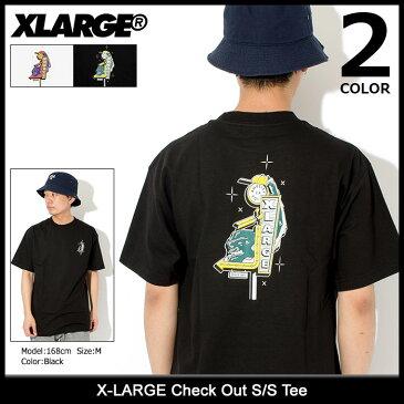 エクストララージ X-LARGE Tシャツ 半袖 メンズ チェック アウト(x-large Check Out S/S Tee ティーシャツ T-SHIRTS カットソー トップス XLARGE Extra Large エックスラージ M18A1112)[M便 1/1] ice filed icefield