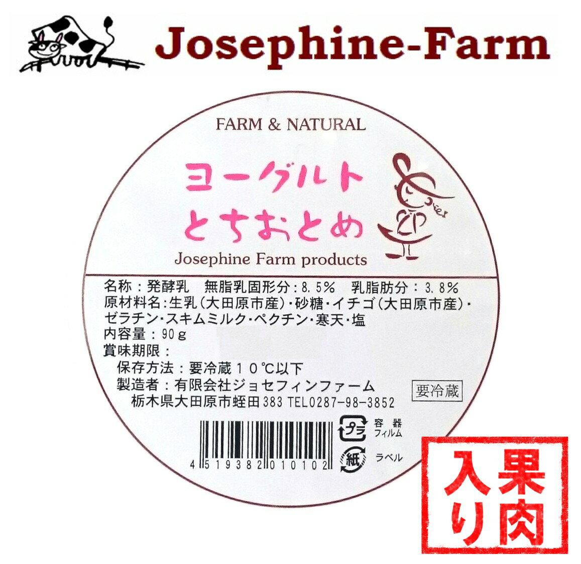 ジョセフィンファーム ヨーグルト とちおとめ カップ 90g
