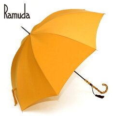 軽さとリラックス感で選ばれている婦人洋傘、撥水性に優れたTEIJIN(R)レクタス【送料無料】日本製 60レクタスバンブー婦人長傘(オレンジ)【傘屋伝七/zs01602or】【楽ギフ_包装】
