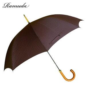 65フォックスフレームポリチェック紳士洋傘(手開き)【送料無料】【傘屋伝七/09026c】
