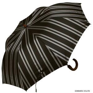 【送料無料】RAMUDA55×8軽量トップレス折たたみ傘甲州織(レジメンタル・ワイド)ストライプ楓手【傘屋伝七/2163053b】【楽ギフ_包装】
