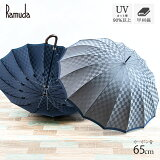 Ramuda 甲州織 長傘 メンズ 傘 紳士 市松柄 ギフト プレゼント おしゃれ 日本製 日傘 雨傘 UV16本骨
