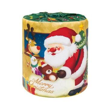 ハッピークリスマス サンタロール トイレットペーパー 100個入 2360【同梱・代引き不可】