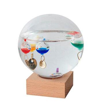 茶谷産業 Fun Science ファンサイエンス ガラスフロート温度計 ドームL 333-210【同梱・代引き不可】