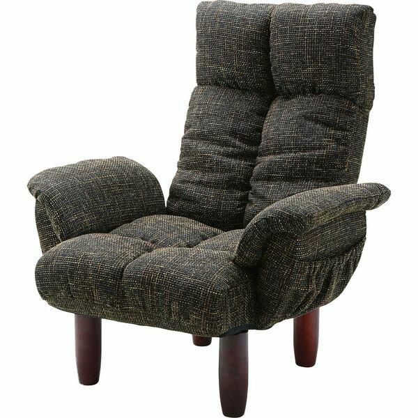 脚付 パーソナルチェア いす イス 椅子 チェア AZUMAYA RKC-39BR BR おしゃれ デザイン家具 インテリア 家具 【代引不可】【同梱不可】