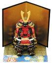 ≪ ミニ鎧赤 ≫  端午の節句 五月人形 兜飾り 鎧飾り ミニチュア 初節句 出産祝い コンパクト ミニ エッグアート
