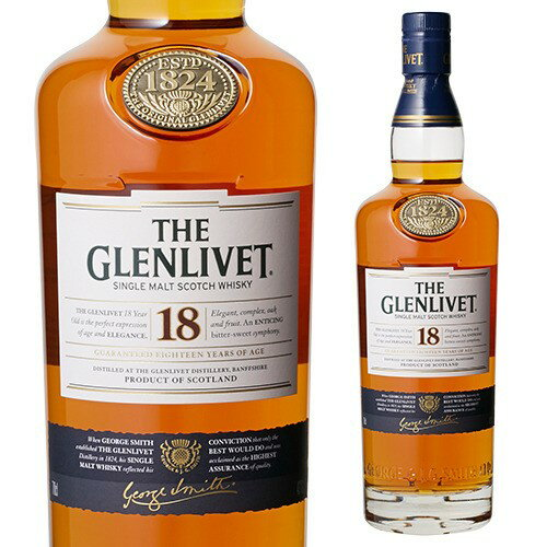 The Glenlivet 18 year 700 ml single malt whisky 02P03Sep16