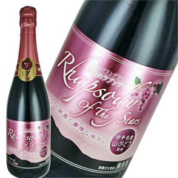 スパークリングワイン 赤 中口 エーデルワイン 星空のラプソディ 赤 スパークリング 720ml 日本 岩手