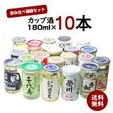 日本酒 飲み比べ 日本酒セット カップ酒 10本 180ml×10本 送料無料(一部地域除く) ギフト プレゼント