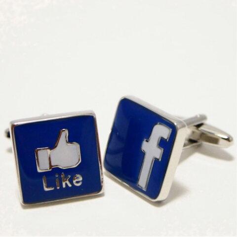 フェイスブック Facebook カフス 【送料無料】 カフスボタン カフリンクス