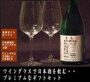 プレミアムギフト【日本酒専用ワイングラス×2脚】 と【日本酒(亀泉 純米吟醸CEL-24)720ml×1本】のセット【送料込・クール送料無料】離島・沖縄県へのお届けは別途送料がかかります。送料表をご確認下さい。[3160]