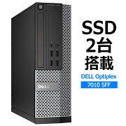 【中古】DELLOptiPlex7010SFFCorei5/SSD/メモリ8GBWindows10Pro(64bit)第三世代Corei5メモリ8GBSSD128GBx2デスクトップパソコン省スペースデスクトップPC【RCP】