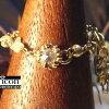 K10,K14YGダイヤモンド2種(ローズカット&原石)乙女咲きフラワーフレーム幅広イタリアンチェーンリング兼Yペンダント