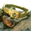 """K18YGカメレオンダイヤモンド(ナチュラル・カラーチェンジグリーン)""""Mine""""リング"""