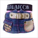 【BIGバーゲン】【50%OFF】【小型犬/SS・S】(ALPHAICON JEANS)ペインターDENIMスカート【bb】