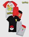 【お得な上下2セット】Pokemon パジャマ (3〜12 歳) ポケモン ピカチュ子供服 ベビー服