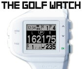 最新コースにアップ後出荷!GREEN ON THE GOLF WATCH 【横型/白】(グリーンオン ザ ゴルフ ウォッチ [横型/白])腕時計型GPSキャディ
