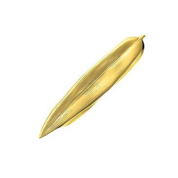 笹の葉の箸置&ナイフレスト(ゴールド) ステンレス
