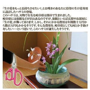 【ポイント10倍】【送料無料】【ゆうパケット】切った花が長持ちする「引き切り」する専用ハサミ●花切専用ハサミ「花切かれず」