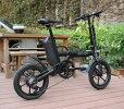 電動自転車ミニベロブラック,折りたたみ電動アシスト自転車16インチ電動自転車シマノ製7段変速機ミニベロ便利おすすめ