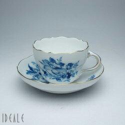 送料無料【最安値37%引き】マイセン ドイツの花ブルー 810710-582  コーヒーカップ&ソー...