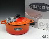 シャスール ラウンドキャセロール(ココット ロンド) 20cm Orange オレンジ 【YDKG-s】【HLS_DU】【RCP】【耐熱 鍋 お鍋】【あす楽対応】[170420sps]