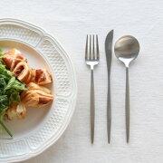 クチポール デザート デザートナイフ・デザートフォーク・デザートスプーン カトラリー ブラッシュド