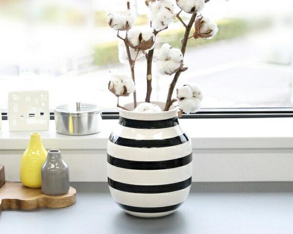 ケーラー Kahler オマジオ ベース Mサイズ 200mm ブラック 【花瓶 ギフト】