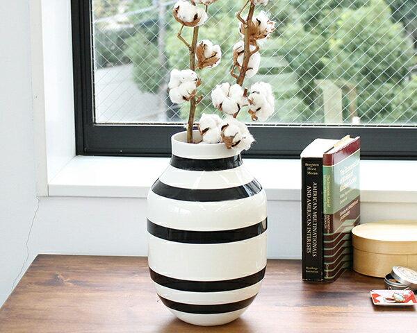 ケーラー Kahler オマジオ ベース Lサイズ 305mm ブラック 【花瓶 ギフト 結婚祝い プレゼント 贈り物】