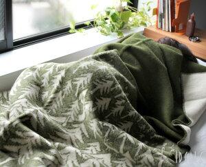 クリッパン(KLIPPAN)×ミナ ペルホネン(mina perhonen) 225102 ウールシングルブランケット ハウスインザフォレスト 130×180cm グリーン [送料無料]【毛布】
