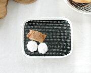 マリメッコ ラシィマット プレート ホワイト ブラック レクタングラー アフター