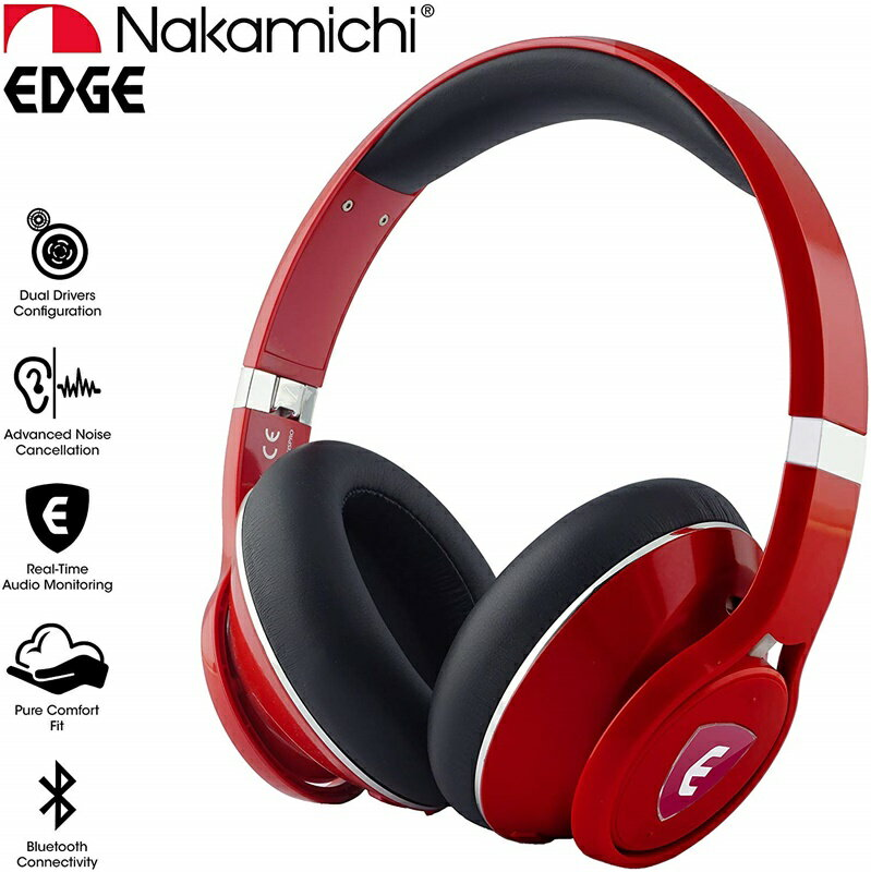 オーディオ, ヘッドホン・イヤホン  EDGE ELSA Bluetooth Nakamichi USA EDGE AI-Enhanced Wireless Headphones