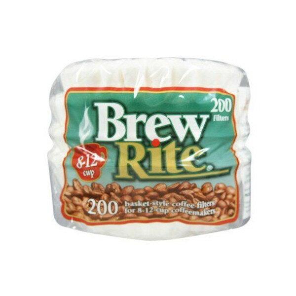 【お得!10%オフクーポン発行中】コーヒーフィルター Brew Rite 12カップ 200枚 ホワイト バスケットタイプ 輸入コーヒーフィルター画像