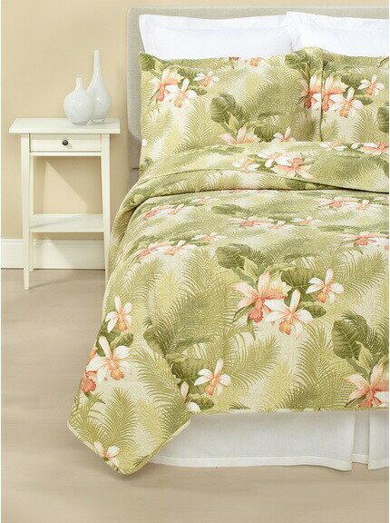 寝具カバー・シーツ, ベッドカバー・ベッドスプレッド 10OFF Tropical Orchid 2 x1 Tommy Bahama Bahama Tropical Orchid Quilt Set