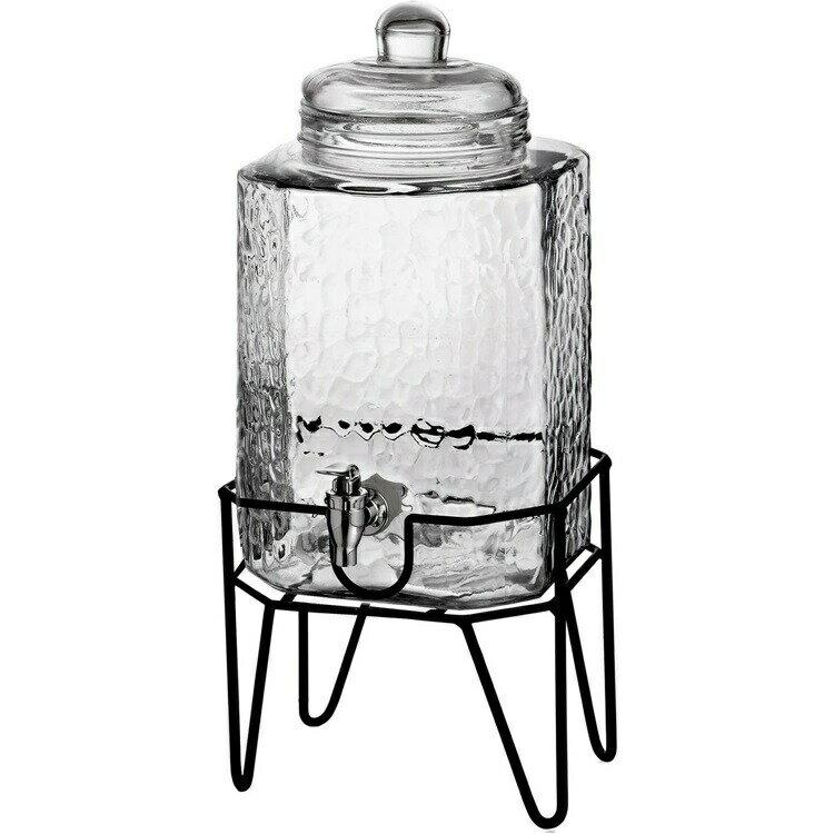 Style Setter ハンブルグ スタンド付 ガラス製ウオーターディスペンサー 3.8L ウオーターサーバー ドリンクサーバー ガラスサーバーHamburg Beverage Dispenser on Stand 1.5 ガロン