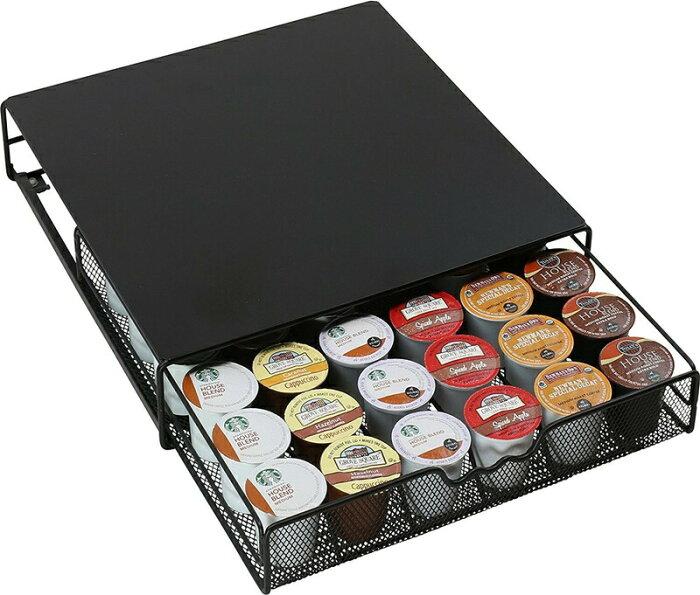 【フライデイセール TGIF!15%OFFクーポン発行中!】DecoBros Kカップ コーヒーカプセルホルダー キューリグ ストレージ 36カプセル 収納 K-cup Storage Drawer Holder for Keurig K-cup Coffee Pods KT-001-1