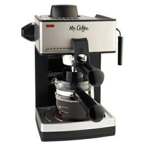 本日全商品5%オフクーポン発行中 エスプレッソメーカー Mr Coffee ECM160 ミスターコーヒー 4カップ スチーム エスプレッソマシーン Espresso Machine おうち時間 ステイホーム