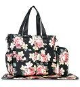 輸入 マザーズバッグ 花柄 トートバッグ 防水ラージ マザーズバッグ ピンク/ブラック おむつバッグ ママさんバッグ