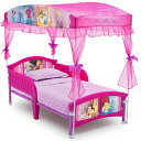 【ステイホームセール!あなたに5%OFFクーポン!】ベビーベッド Disney ディズニー プリンセス キャノピー付き 幼児用ベッド Delta Children Canopy Toddler Bed組み立て式 子供用ベッド おうち時間 ステイホーム