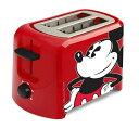 ディズニー トースター ポップアップトースター ミッキーマウス Disney DCM-21 Mickey Mouse 2 Slice Toaster Red/Blac