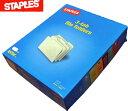 Staples! 送料無料!! 書類整理がとても簡単に マニラ ファイル フォルダー 1/3-Cut Tab Letter Size Manila File Folders 100per Box