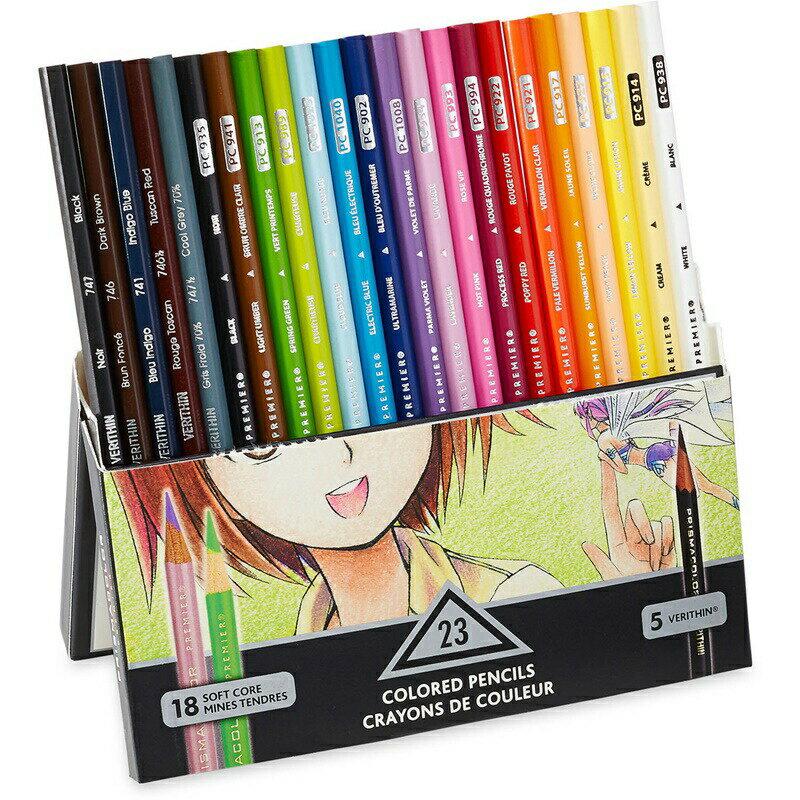 筆記具, 色鉛筆 5 23 Prismacolor Premier Colored Pencils, Manga Colors 23-Count
