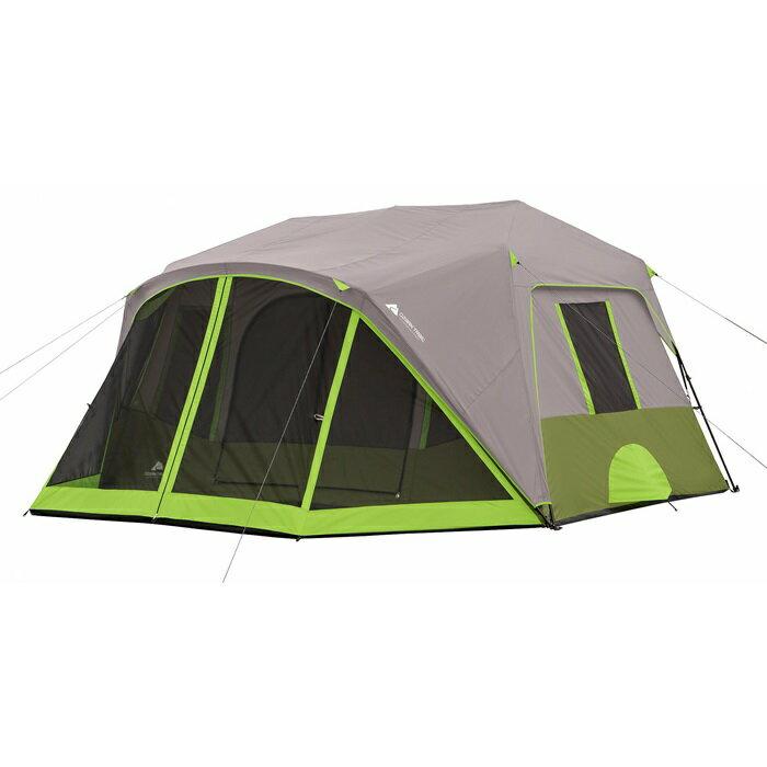 オザークトレイル 9人用 インスタント キャビン テント スクリーンルーム付き