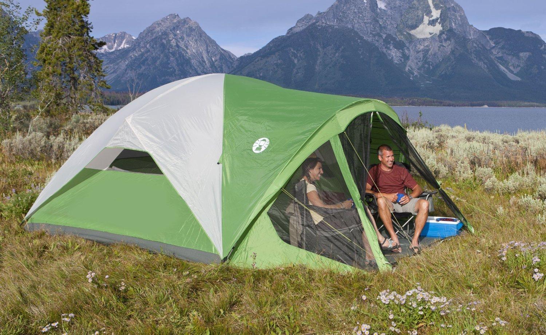 【楽天市場】送料無料 8人用大型ドームテント キャンプ 大型テント コールマン 8人用 スクリーンテント