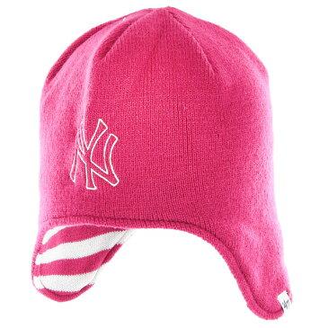 【ポイント5倍】【クーポン適用で5%オフ】ニューヨークヤンキース New York Yankees '47 フォーティーセブン ガールズ 子供用 ニット ビーニー 帽子 Girls Toddler Isabella Knit Beanie - Pink