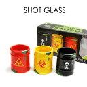 SHOT GLASS ショットグラス テキーラショットグラス BAR キッチン 雑貨 バイオハザード 処方薬 【おもしろ】