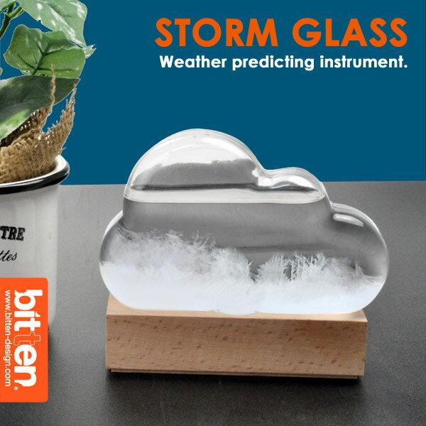 【送料無料】ストームグラス クラウド 天気管 雑貨 ブランド bitten 気象計 雲型 結晶気象計 天気予報 天候予測器 天気 ムーン サボテン トルネード